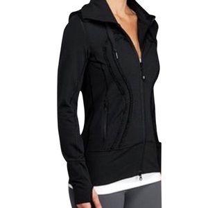 Lululemon Black Ruffle In Stride Hoodie jacket 2